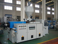 37KW PLC sPlastic Extruder Machine Twin Conical Screw For PE And Wood plastic