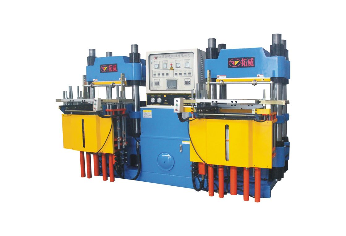 Automatic Rubber Injection Moulding Machine , Plate Vulcanizing Machine Hot Pressing