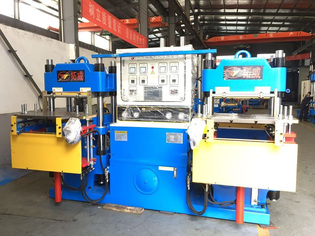 Customized 200T blue vulcanizing machine to produce silicone fresh cover stroke 250