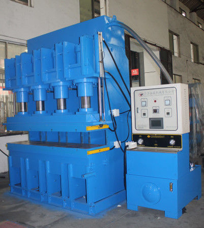 Upper Pressure Vulcanizing Press Machine Table 2000X500mm Automatic Pressure , Exhaust