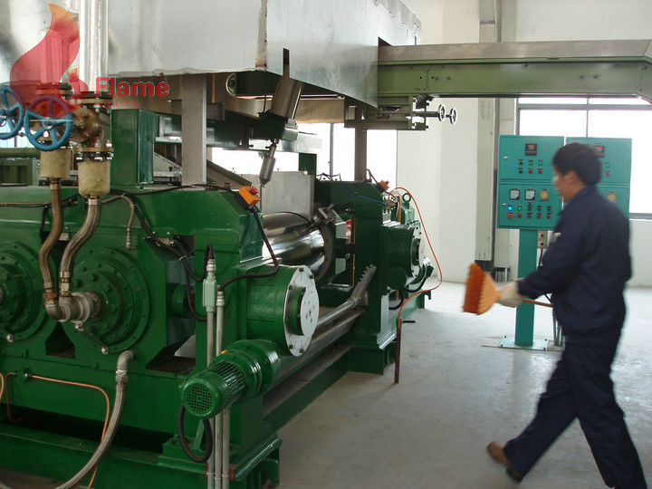 1800 - 2500 Kg/h two roll mill rubber mixing for for plasticizing , calendaring