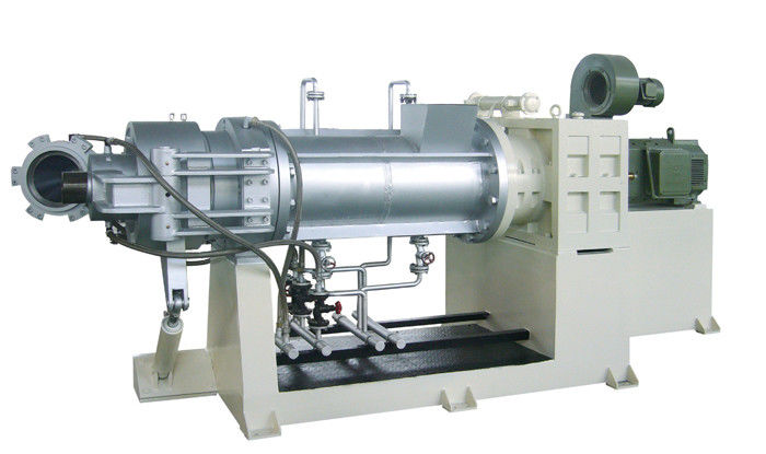 110KW Single Screw Strainer Extruder For PVC with Double Die head